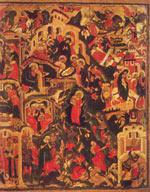 Рождество Христово. Дерево, яичная темпера. 122x102. Конец 17 века